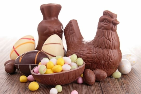 Chocolate Easter eggs of all shapes and sizes