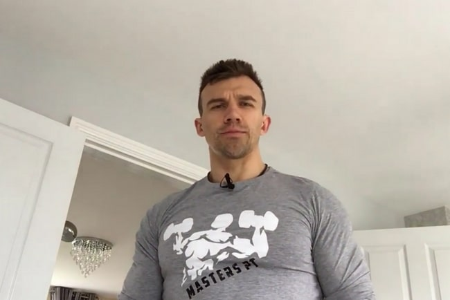 Masters personal trainer talking about mypthub